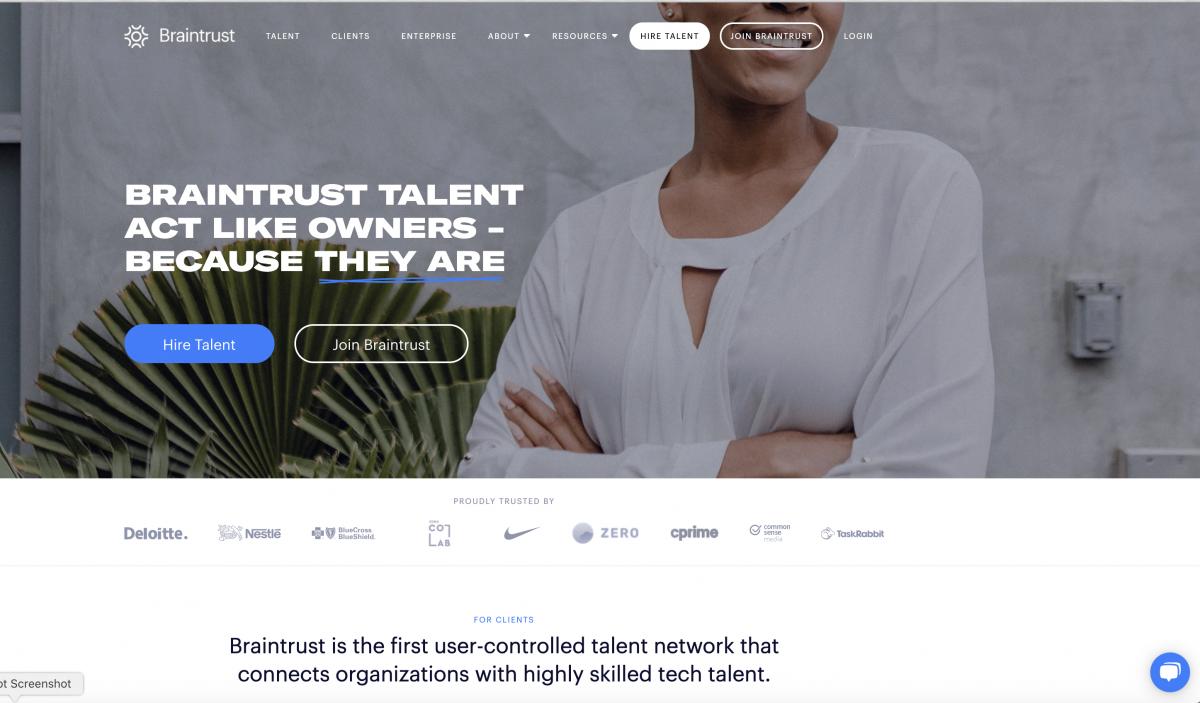 Brain Trust full website built in Wordpress - With Hubspot